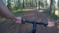 Mountain bike world championships in Aktion:  PoV schnelles Laufen im Wald