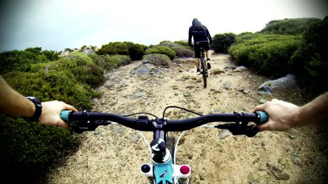 Mountainbike video in Mediterranean vegetation at sea