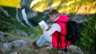 Mountaineer explores the environment.