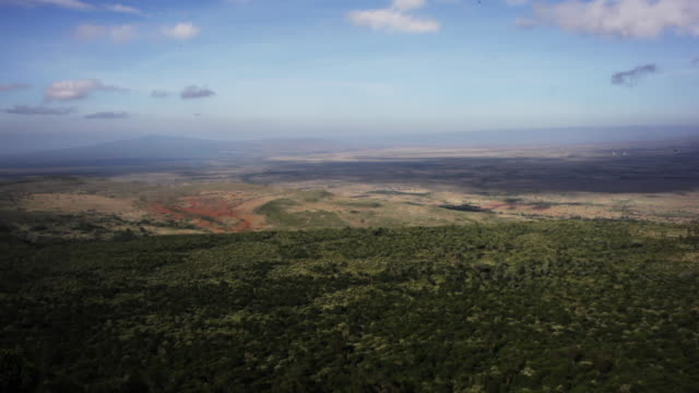 Mountains and forests in Kenya, aerial