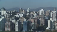 Mountains flank the city of Porto Alegre, Brazil.