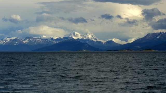Mountains from Alberto de Agostini national park seen from the Beagle Channel