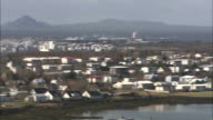 Mountains surround the Icelandic town of Reykjavik.