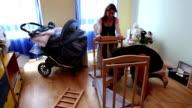 Mounting a crib