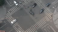 Movement of Cars and Pedestrians at Crossroads in Beijing, China.