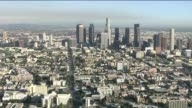 KTLA Moving Aerial Shot Of Downtown Los Angeles During The Day on December 20 2012 in Los Angeles California