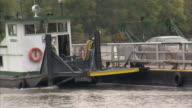 TRACKING Car passenger ferry Deborah A barge push boat ferrying automobiles across Ohio River Rural ferries transportation crossing no bridge Ohio to...