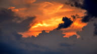 Moving Cloud at Sunset Time Lapse