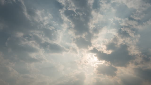 Moving clouds and sunshine Timelapse, 4k (UHD)