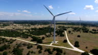 Moving in Very close to single Large Wind Turbines Farm outside of Goldthwaite , Texas near Lampasses and Austin TX