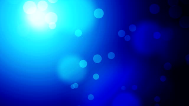 Moving Particles Loop - Blue
