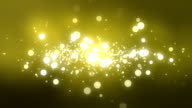 Moving Particles Loop - Gold Shiny Bokeh Background