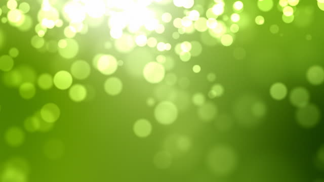 Moving Particles Loop - Green (HD 1080)