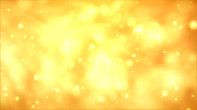 Moving Particles Loop - Orange Glittering in light rays