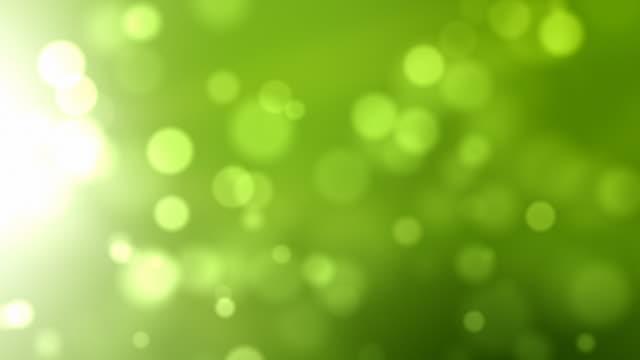 Moving Particles Loop - Side Glow Green (HD 1080)