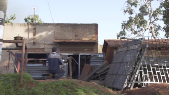Moving shot of Street in Uganda