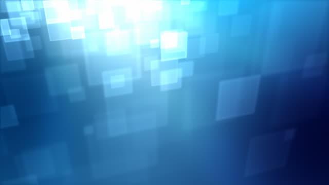 Moving Square Partikel Loop-Blau (HD 1080