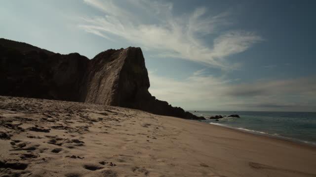Moving timelapse of Malibu beach
