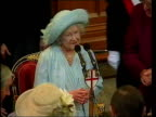 Mowlam's comments on Royal Family casue political row POOL London Mansion House Queen Mother sat at table for dinner to celebrate her 100th birthday...