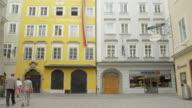 WS Mozart's birthplace, the yellow building (Getreidegasse 9)