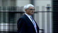 MPs arrive for special 'Trident' cabinet meeting Alistair Darling MP along and into number 10