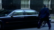 MPs arrive for special 'Trident' cabinet meeting Peter Hain MP out of car and into number 10