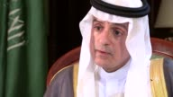 MPs to rule on arms sales to Saudi Arabia ENGLAND London INT Adel AlJubeir interview SOT On Theresa May meeting with Saudi officials at G20 talks...