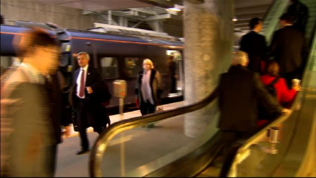 MPs travel to Olympic Park for Cabinet meeting St Pancras departures / Stratford arrivals Stratford INT Osborne Alexander Cheryl Gillan MP Hammond...