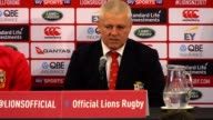 Mr Gatland wore a red nose in response to a cartoon depiction of him as a clown before the Test series against the All Blacks