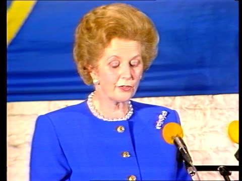 Mrs Thatcher EEC speech in Belgium ITN Bruges 'And the time of the burden'