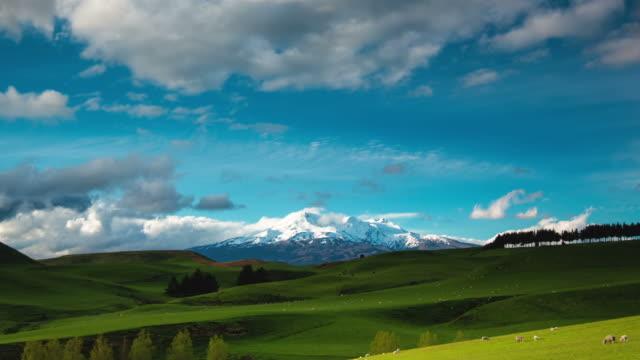 TIME LAPSE: Mt Ruapehu Volcano, New Zealand Landscape