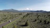 Monte Shasta Veduta aerea autostrada