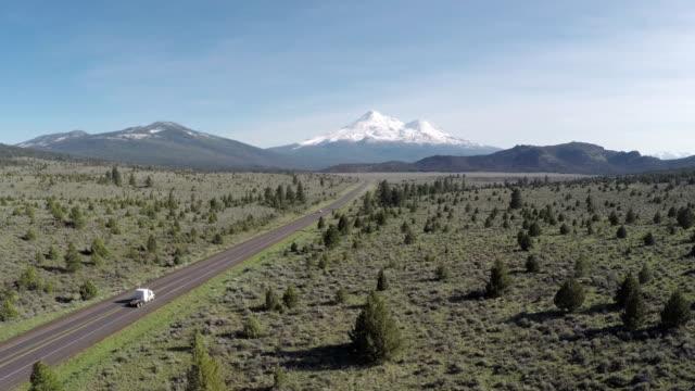 Mt. Shasta luchtfoto Highway