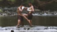 Muay thai or Thai boxing at Thailand