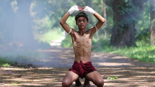 Muay thai oder Thai-Boxen in Thailand