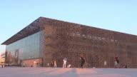MuCEM /  Museum of European and Mediterranean Civilisations in the sunset