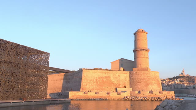 MuCEM with Latern Tower / Fort Saint Jean - sunset
