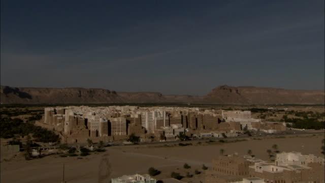 Mud brick high rises fill the town of Shibam Yemen.