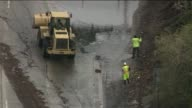 Mudslide Causes Shutdown of Major California Freeway on October 09 2013 in Los Angeles California
