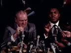 Muhammad Ali and Joe Frazier cause a ruckus at a press event leading up to the The Fight of the Century Muhammad Ali and Joe Frazier in Front of...