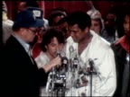 Muhammad Ali and Ken Norton official weighin at the Essex House Dustin Hoffman Joins Muhammad Ali at His WeighIn on September 27 1976 in New York New...