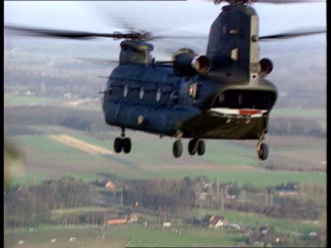 Mull of Kintyre Chinook helicopter crash ITN LIB Chinook helicopter in flight