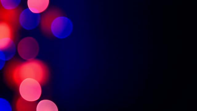 Multicolor flickering defocused lights