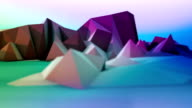 Multicolored cartoon mountains loopable panorama
