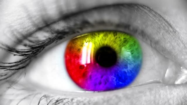 Multicolored Human Eye
