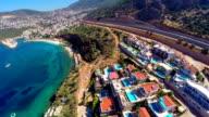 Multicopter view of Kalkan Mediterranean town