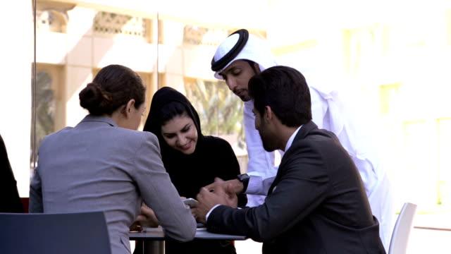 Multi-ethnic business people in Dubai