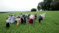 Multi-ethnic Countryside People