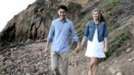 Multi-Ethnic Romantic Couple at the Beach