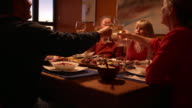 Multi-Generation Family Toasts with Dinner
